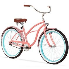 A little bit retro and a whole lotta cool, the Sixthreezero Paisley Beach Cruiser Bike will get you to the beach or around town in comfort and style. Check out the boho-chic paisley print, wide whitewall tires and faux leather seat.