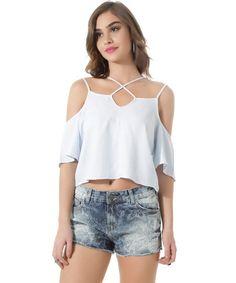 Resultado de imagem para cropped de jeans