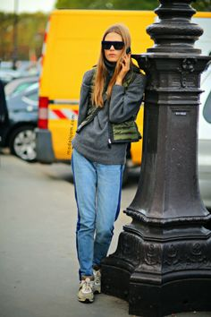 Caroline Brasch Nielsen, Paris, September 2013 Casual womenswear street style