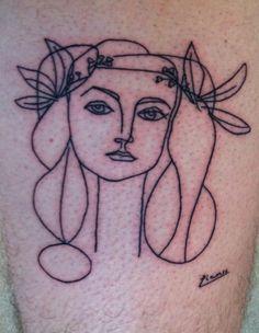 Picasso tattoo.