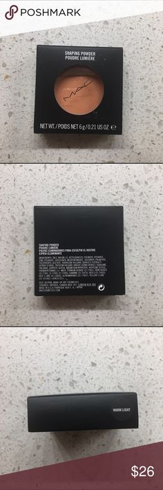 Mac shaping powder in shade Warm Light Brand new in box authentic Mac shaping powder in shade warm light Size. 6.0 g / 0.21 OZ Discontinued shade  Made In USA MAC Cosmetics Makeup Bronzer