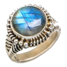 Labradorite 925 Sterling Silver Ring Size 7 RING762001