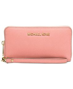116a13565c3d Michael Michael Kors Specchio Jet Set Travel Large Flat Multifunction Wallet  Mk Handbags, Handbags Michael