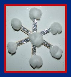 Easy Popsicle Stick Snowflake Craft - 20 Interesting Winter Kids Crafts