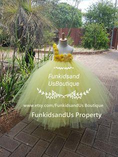 Yellow   Flower girl Tutu Dress Lemon/Pale Yellow Birthday