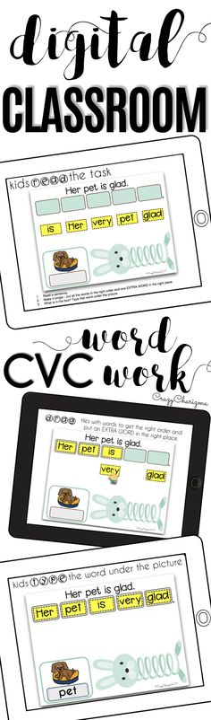 Have you been looking for fun 1:1 CVC words activities to use in Google Classroom? Try this digital teaching resource - ANIMALS SLINKY. Help students become more comfortable with reading CVC word sentences. Use the Google Classroom packet in kindergarten, first grade and second grade during your literacy block, daily 5, guided reading, spelling, RTI, or during literacy centers. Paperless resources can be fun!