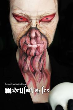Now this is some awesome makeup. It's a perfect Ood. The Ood by ~MadeULookbylex on deviantART