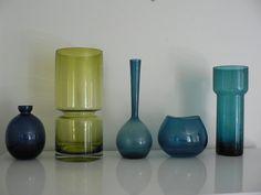 Mid century studio art glass vase / 1950s 60s by secreteyesonly