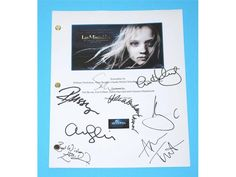 Les Miserables 2012 Movie Screenplay Script Autographed: Hugh Jackman, Anne Hathaway, Russell Crowe, Amanda Seyfried, Sacha Baron Cohen