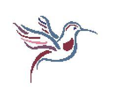 Hummingbird Cross Stitch Pattern Bird by CrossStitchDiva on Etsy