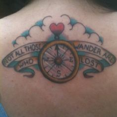 Not all those who wander are lost- folk art style: my 30th bday present to myself