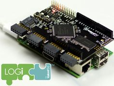 LOGi FPGA Development Board for Raspberry Pi - Beaglebone by Valent F(x) — Kickstarter.  The LOGi-family is a series of FPGA development boards that were created with a dual-use purpose: to limit the sharp learning curve associated with FPGA development; and to enable the unification of existing hardware interfaces and open-source development platforms, such as the Raspberry Pi and Beaglebone Black.