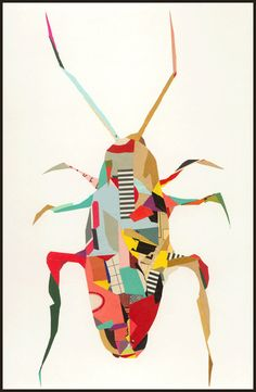 La Cucaracha, 2008 Paper collage, 12 x 6 inches © Greg Lamarche Minibeast Art, Natural Form Art, Atelier D Art, Jr Art, Beautiful Bugs, Beautiful Collage, Insect Art, Bugs And Insects, Arte Pop