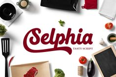 Selphia | The Beautiful October Bundle | The Hungry Jpeg | Guide to dingbats and Open Type features in PDF file in folder.