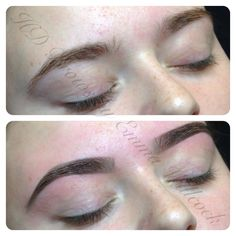 HD Brows before & after by Emma Willcock.