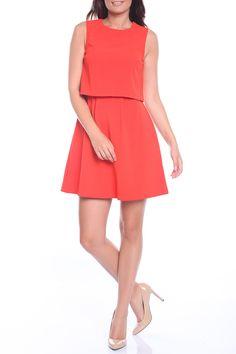 расклешенное приталенное оранжевое короткое платье Dresses For Work, Fashion, Moda, Fashion Styles, Fashion Illustrations