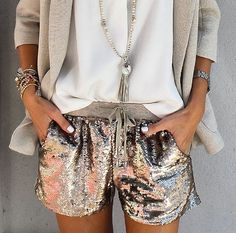 A pretty, sparkly classy outfit.