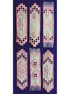 Rose Hardanger Bookmarks Pattern