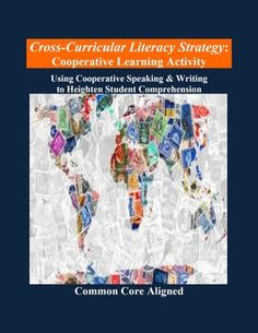"""This cooperative learning strategy is great for middle school social studies and high school students who struggle. The """"Cooperative Speaking & Writing"""" strategy heightens student social studies content understanding AND reading comprehension."""
