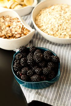 baked blackberry oatmeal — passports & pancakes