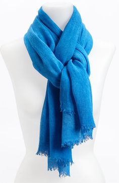A gauzy scarf with crinkled texture brings a bold pop of color to cute way to tie a scarf ccuart Images