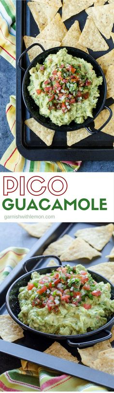 You'll want to double the batch of this Pico Guacamole recipe as it always goes quickly at parties. This recipe combines the best of pico de gallo and fresh, creamy guacamole!