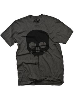 "Men's ""Dripping Skull"" Tee by Fifty5 Clothing (Black Pigment) #InkedShop #skull #graphictee #menswear"