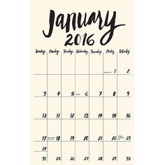 Hang It Up: 15 of the Most Beautiful Wall Calendars for 2016