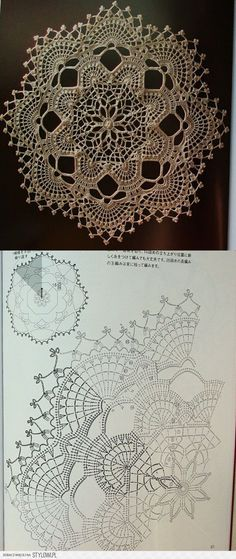 splendid doily with scheme