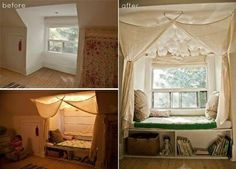 Reading nook: before & after