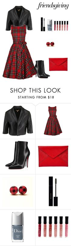 """""""Untitled #700"""" by ladyasdis ❤ liked on Polyvore featuring Christian Louboutin, Louis Vuitton, Gucci, Christian Dior and friendsgiving"""