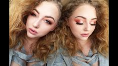 I wanted to do something a little different than the typical pink look and do some orange i added a light pink shimmer this combo together is so BEAUTIFUL! Morphe 350, Cut Crease Makeup, Makeup Looks, Eyeshadow, Valentines, Beauty, Valentine's Day Diy, Eye Shadow, Valentines Day