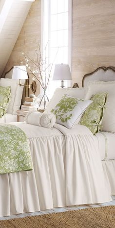 Mint green and white together      #home #interior