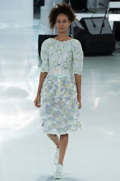 Chanel | Spring 2014 Couture Collection | Style.com | Joan Smalls