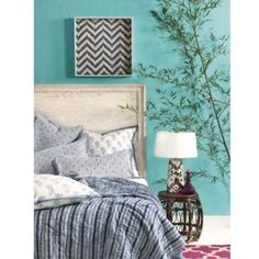 Vera Block Print Quilt | Ballard Designs so cute and such a possibility for my guest room!