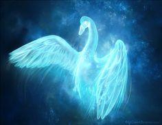 Swan Patronus (love the color)