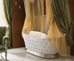 This is what I call a high fashion bathtub. <3 it and want it!
