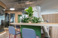 Morphoza has designed a new office environment for the CBRE's team in Romania and we are very proud to be part of this… Office Environment, Romania, Conference Room, Goals, Table, Projects, Furniture, Instagram, Design