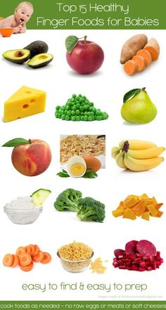 Top 15 Healthy, Nutritious and Delicious Finger Foods for Baby - Finger foods for Baby around 7-8 months old | The Wholesome Baby Food Guide Blog by mfbaez