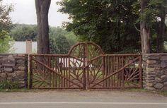 Rustic Garden Fencing & Gates | Wooden Deck & Log Porch Railings ...