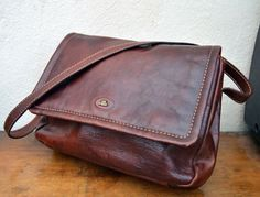 THE BRIDGE bag REAL LEATHER chestnut BROWN conker VINTAGE STUNNING  FREE P P 19e7bbcc41598