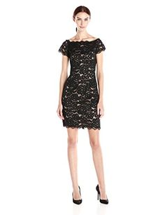 Adrianna Papell Women's Off The Shoulder Lace Sheath Dress - http://darrenblogs.com/2015/12/adrianna-papell-womens-off-the-shoulder-lace-sheath-dress/