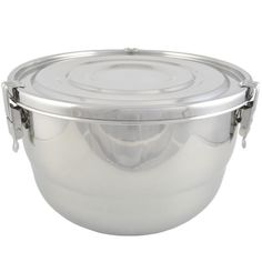 """Stainless Steel Airtight Watertight Food Storage Container, 23cm (9"""")"""