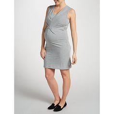 Buy Mamalicious Zelma Tess Jersey Maternity Dress, Grey Melange Online at johnlewis.com