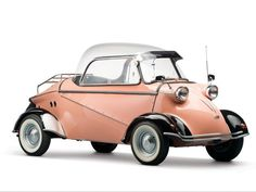 A 1958 Zündapp Janus, est. $30,000-$40,000, named for the two-faced Roman god. A sleek mini-roadster from Australia, the Goggomobil Dart enjoyed a strong fan base. Estimated sale price: $35,000-$45,000 A three-wheeler with Ferrari-like looks, about 2,500 of these British 18-hp cars were built. Estimated sale price: $10,000-$15,000 The fastest Messerschmitt-type car built, with 20.5 hp. Estimated sale price: $125,000-$150,000.
