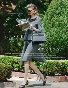 The Harper's Bazaar UK 'Grace in Motion' Stars Angela Lindvall trendhunter.com