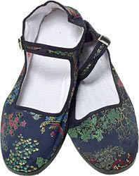 Brocade Mary Jane Chinese Shoes