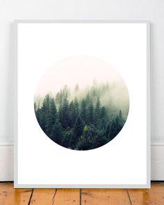Landscape Abstract art Nature print Modern art by WallArt2Decor