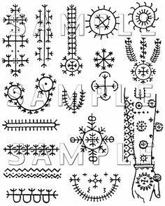 traditional croation tattoo pattens                              …