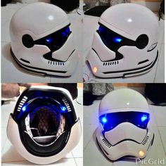 Base Helmet : KYT (DOT approved, SNI approved)  Material : Fiberglass  Features : Light up leds    This is a profesionally crafted handmade custom helmet    Main color : white (you can pick your own color)  Secondary color : Black (you can pick your own color)  Leds : Blue (you can pick your own color)    This product requires 21 days (max) to made, and will ship directly after.  Dont hesitate to shoot me messages for any question    Return and Refund policy    - If the item is not received…